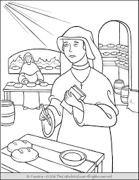 saint faustina coloring page the catholic kid