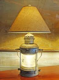 Nautical Table Lamps A Beautiful Authentic Marine Brass Anchor Lantern Re Purposed Into