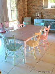 rainbow pastels dining suite by restyled vintage etsy