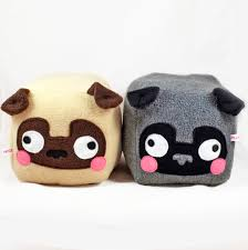 pug cube plushie kawaii soft toy pillow cushion novelty home