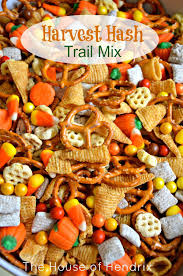 harvest hash trail mix fall snacks hash recipe and
