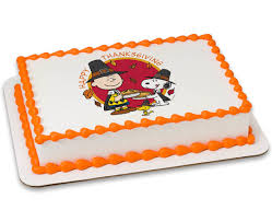 Snoopy Thanksgiving Peanuts Happy Thanksgiving Photocake Cake Cakes Com