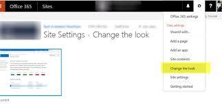 office 365 sharepoint site based on custom template u2013 u0027change the