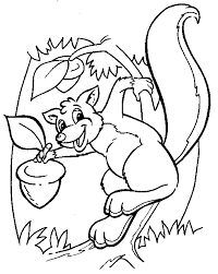 nut coloring page eating a nut color page