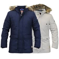 mens parka jacket tokyo laundry coat padded sherpa fleece hooded