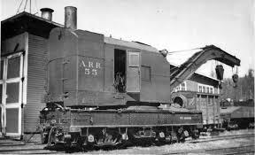 freight and passenger cars locomotive cranes