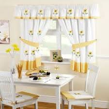 Sunflower Valance Kitchen Curtains by Sunflowers Flowers Country Farm Kitchen Fabric Window Curtain