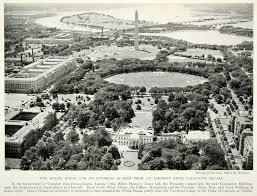 1931 print white house washington d c monument lafayette square