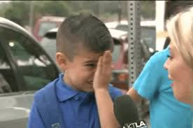 Guy Crying Meme - a little boy started sobbing after a reporter asked him if he would
