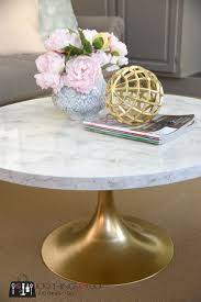 round mid century modern coffee table diy faux marble coffee table 100 things 2 do