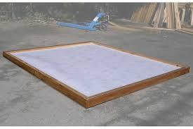 modular sauna tray or base