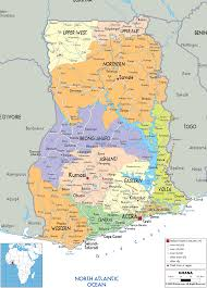 Map Of Africa With Cities by Detailed Clear Large Map Of Ghana Ezilon Maps