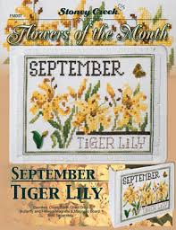 Flowers Of The Month Stoney Creek Flowers Of The Month September Cross Stitch Pattern