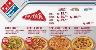 domino pizza tangerang selatan daftar harga domino pizza 2018 terbaru daftar harga menu delivery