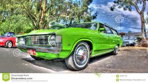 green ford station wagon custom 1970s australian ford fairmont editorial photography