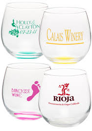 personalized colored stem wine glasses discountmugs