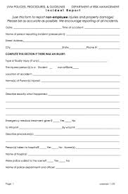 report writing sample for students student incident report template word image gallery hcpr form for employees form for students and non employees
