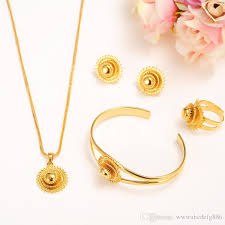 gold filled necklace set images 2018 14k yellow solid fine gold filled jewelry set bride glaze jpg