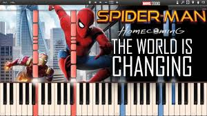 the world is changing spider man homecoming synthesia piano