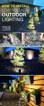 installing low voltage outdoor lighting low voltage landscape lighting diy how to install low voltage