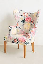 Pattern Chairs Lotus Blossom Wingback Chair Anthropologie