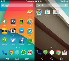 android lollipop features options in android l lollipop not with android kitkat