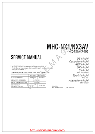 sony mhc nx1av nx3av service manual download schematics eeprom