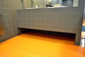 Powder Room Flooring Epoxy Resin Flooring Is Suitable For A Public Bathroom