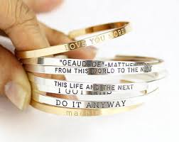 Personalized Cuff Bracelet Personalized Cuff Etsy
