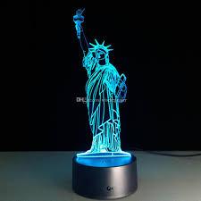 2017 2016 statue of liberty 3d optical illusion lamp night light