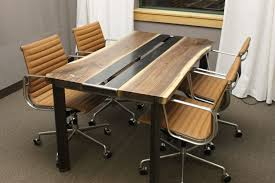 Modern Conference Table Design Hand Made Live Edge Walnut Conference Table By K Modern Design