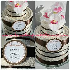 chocolate flavor housewarming towel cake baby shower party