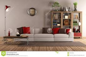 Antique Living Room Furniture by Modern Sofa In A Vintage Living Room Stock Images Image 34694694