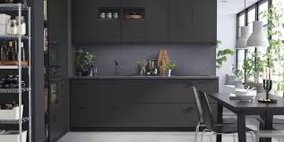 Black Cabinets Kitchen Kitchen Astonishing Ikia Kitchens Throughout Kitchen Ikea Cabinets