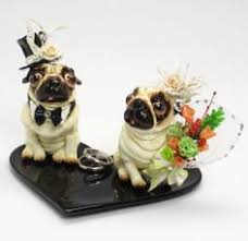 quick and easy gift ideas from the usa pug wedding cake topper