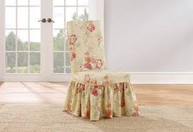 Dining Room Chair Slip Covers by Sure Fit Ballad Bouquet Long Dining Room Chair Slipcovers