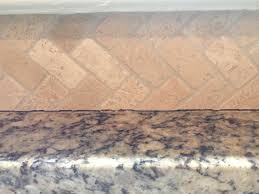Kitchen No Backsplash by Kitchen Counters How To Caulk Stone Backsplash To Granite