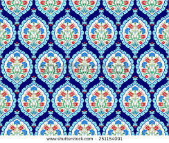 Ottoman Design Seamless Pattern Design Inspired By Ottoman Stock Vector 251154091