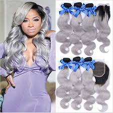 silver hair extensions ombre hair weave wave weft 1b grey 7a hair 3