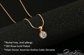 gold zirconia necklace images Unique crown cubic zirconia necklaces silver rose gold color chain jpg
