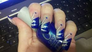 blue tip white design nail art gallery