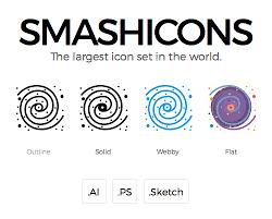 smashicons u2013 a carefully crafted iconset in 4 styles freebie