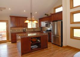 Galley Kitchens With Islands Comfortable Galley Kitchen Remodel With Brown Design For Kitchen