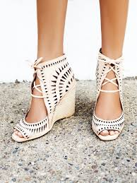 wedding shoes jeffrey cbell serena wedge laser cut leather wedges featuring an open toe