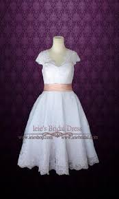 other retro 50s tea length wedding dress with sleeves 260 size