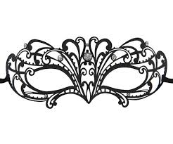 metal masquerade mask butterfly wave filigree masquerade mask