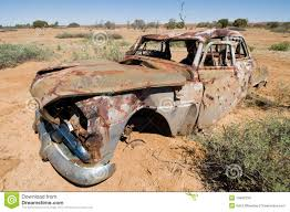 wrecked car old wrecked car in outback australia stock image image 14466759