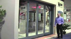 multiple sliding glass doors kolbe u0027s ultra series multi slide doors youtube