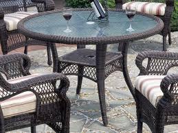 white round patio table wicker patio table color outdoor waco special wicker patio table