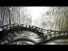 how to draw a scenery bridge and forest step by step youtube